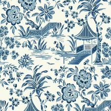 White/Light to Dark Blue Traditional Wallcovering by York