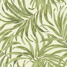 Cream/Light to Medium Yellow/Green Botanical Wallcovering by York