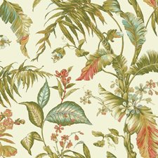 Cream/Light Green/Medium Green Botanical Wallcovering by York