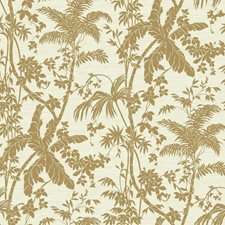 Medium Brown/Cream/Beige Botanical Wallcovering by York