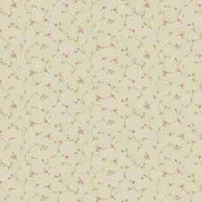 Soft Taupe/Pink/Light Green Floral Wallcovering by York