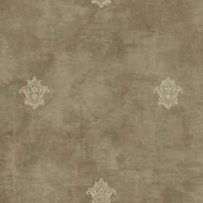 Tan/Dark Grey/Beige Fleur De Lis Wallcovering by York