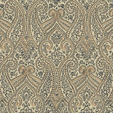 Beige/Black/Gold Paisley Wallcovering by York