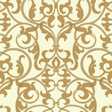 Cream/Metallic Golds Traditional Wallcovering by York