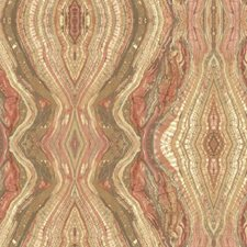 Browns/Orange/White Novelty Wallcovering by York