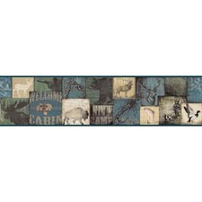 Blue/Green/Cream Animals Wallcovering by York