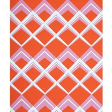 Orange/Pink Contemporary Wallcovering by Brunschwig & Fils