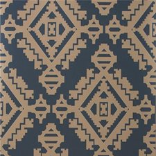 Indigo Geometric Wallcovering by G P & J Baker