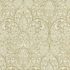 Off White/Metallic Gold Damask Wallcovering by York