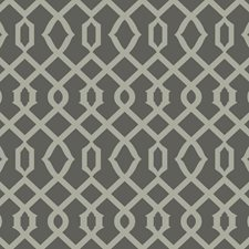 Gray/White Raised Prints Wallcovering by York