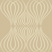Gold/White Geometrics Wallcovering by York