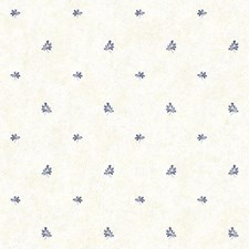 White/Blue/Grey Floral Wallcovering by York
