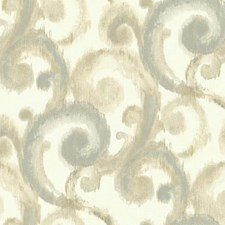 White/Light Blue/Pale Grey Traditional Wallcovering by York