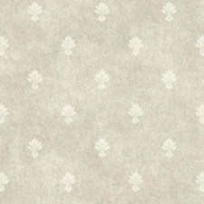 Silver Pearl/White Small Prints Wallcovering by York