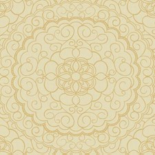 Cream/Beige/Gold Glitter Damask Wallcovering by York