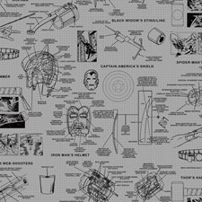 DI0936 Marvels Heroes Schematics by York