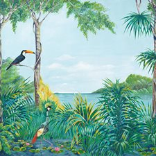 DM974 Blue Lagoon Wall Mural by Brewster