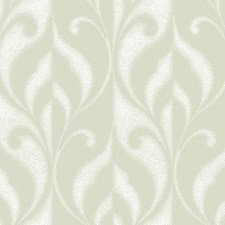 Iced Gold/Powder Snow Scroll Wallcovering by York