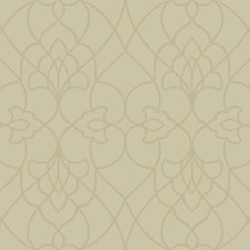 Pale Gold Satin/Beige Damask Wallcovering by York
