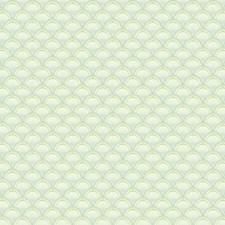 White/Sea Foam Green/Pale Aqua Bricks Wallcovering by York