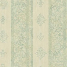 Aqua/Cream/Beige Stripes Wallcovering by York
