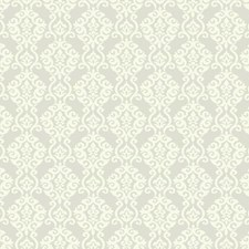 Silver Satin/Rich Cream Damask Wallcovering by York