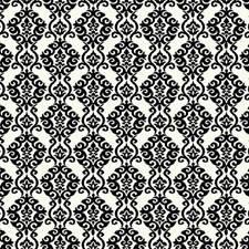 Ivory White/Ebony Black Damask Wallcovering by York