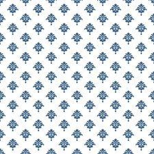 White/Ink Blue Small Prints Wallcovering by York