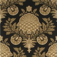 Black/Natural Damask Wallcovering by Mulberry Home