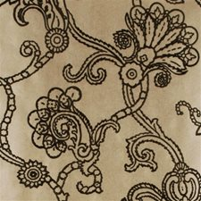 Silver/Black Damask Wallcovering by Mulberry Home