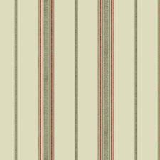 Cream/Taupe/Coral Stripes Wallcovering by York