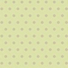 Light Yellow/Green/Medium Taupe Geometrics Wallcovering by York