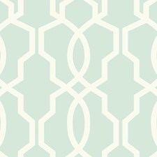 Light Aqua/White Geometrics Wallcovering by York