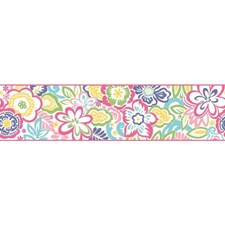 White/Pink/Turquoise Children Wallcovering by York