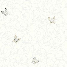 White/Grey/Black Children Wallcovering by York
