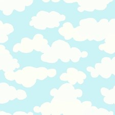 Sky Blue/White/Pearl Beige Children Wallcovering by York