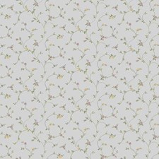 Silver Pearl Floral Mini Wallcovering by York