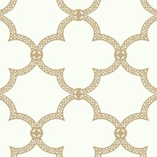 White/Golden Tan Trellis Wallcovering by York