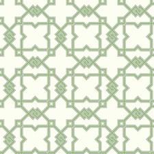 Off White/Bright Green/Dark Grey Trellis Wallcovering by York