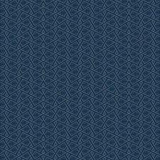 Darkest Blue/Silver/Gold Bohemian Wallcovering by York