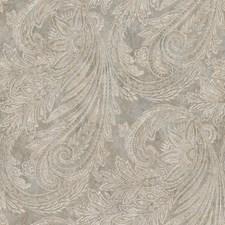 Slate/Grayish White/Gold Paisley Wallcovering by York
