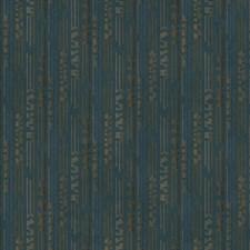 Deep Teal/Tan/Brown Geometrics Wallcovering by York