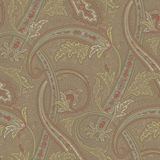 Tan/Aqua/Yellow Traditional Wallcovering by York