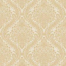 Cream/Gold Damask Wallcovering by York