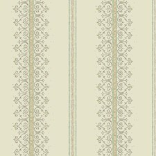 Cream/Taupe/Aqua Stripes Wallcovering by York