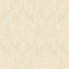 Pale Butterscotch/White Damask Wallcovering by York