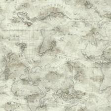 Cream/Ecru/Aged Shining Silver Novelty Wallcovering by York