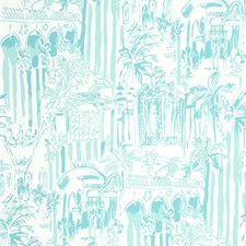 Pool Blue Print Wallcovering by Lee Jofa Wallpaper