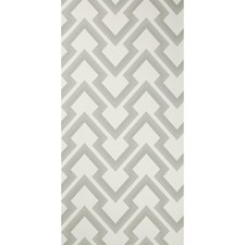 Grey Geometric Wallcovering by Brunschwig & Fils