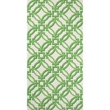 Green Lattice Wallcovering by Brunschwig & Fils